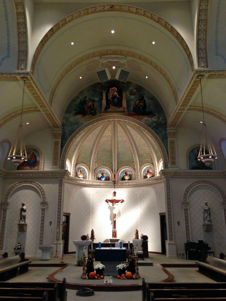 Electro-voice loudspeakers at St. Mary's Church, Polar Focus Zbeam