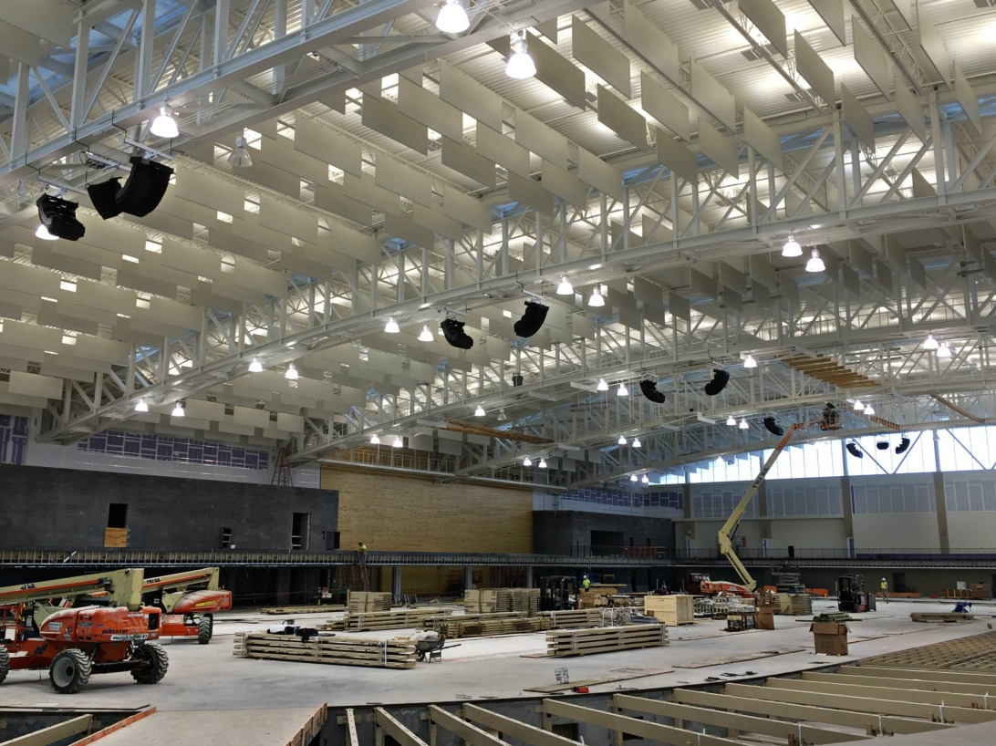 Polar Focus rigging for Bose RoomMatch at Virginia Military Institute