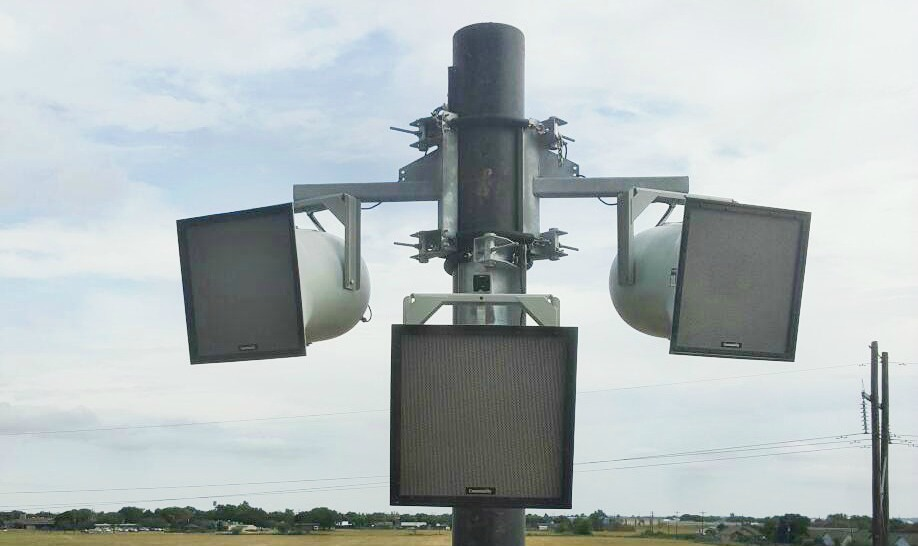 Polar Focus Pole Mount for Community Loudspeakers at Lockhart High School