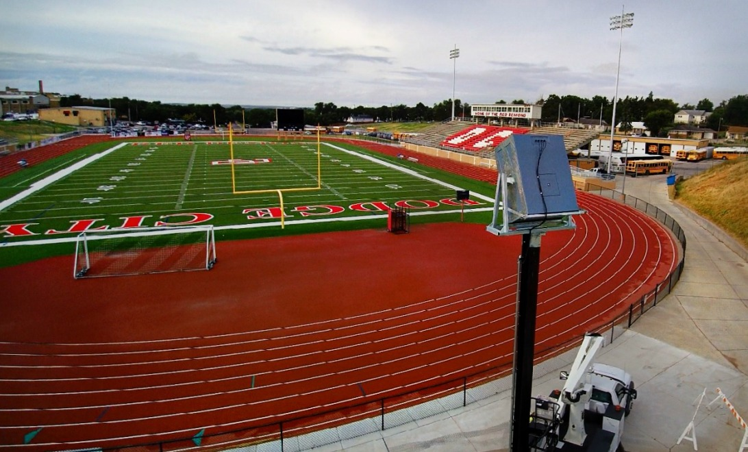 Polar Focus rigging for Danley JH-90 at Dodge City Stadium