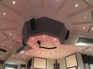Polar Focus rigging for World Overcomers Church in Memphis, TN